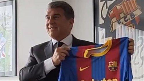 """Laporta: """"Estoy convencido de que Messi quiere seguir en el Barça"""""""