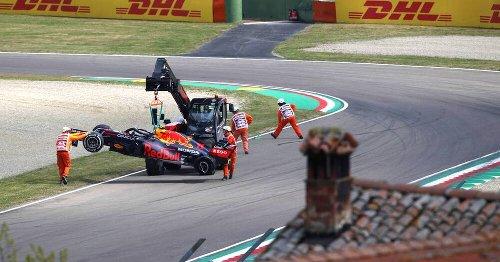Formel 1: Imola-Training nach Perez-Unfall unterbrochen - Vettel weit zurück