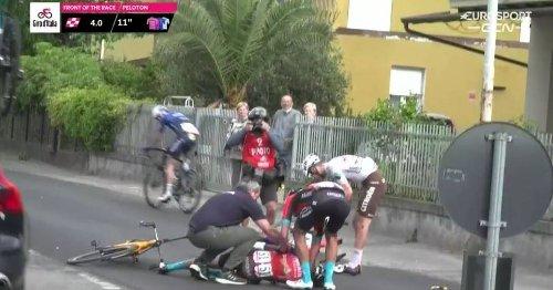 Giro d'Italia, 5. Etappe mit Sturz-Festival - Mikel Landa schwer verletzt