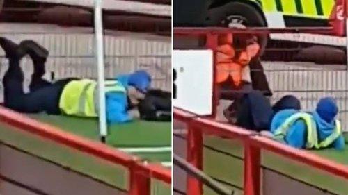 Video Of Cameraman Tied Up At Irish Football Game Goes Viral