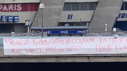 PSG Fans Put Up Anti Paul Pogba Banners Outside Stadium