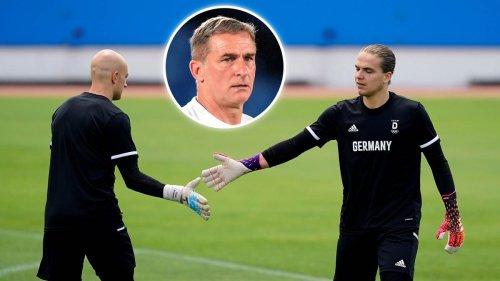 Personalnot bei den Olympia-Fußballern: Bundestrainer Kuntz dachte über Torwart als Feldspieler nach