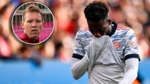 Bei Tor-Gala verletzt: Bayern-Trainer Julian Nagelsmann gibt Update zu Alphonso Davies
