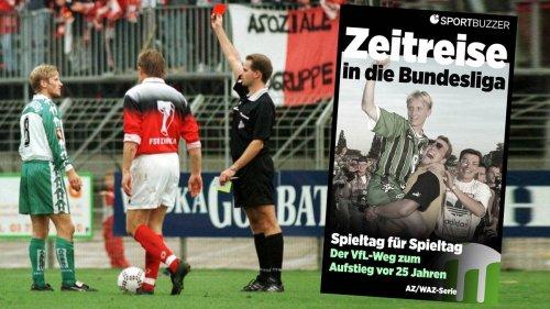 Wolfsburger Zeitreise in die Bundesliga (9): Gelb-Rot, Elfer verschossen, Spitze weg