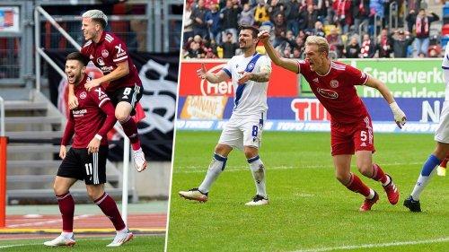 2. Liga kompakt: Nürnberg siegt sich traumhaft auf Platz zwei, Düsseldorf bezwingt den KSC