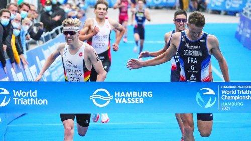 Deutscher Doppelsieg beim Triathlon in Hamburg