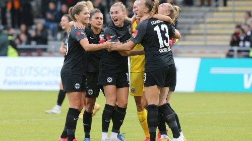"""Last-Minute-Sieg gegen Bayern: Eintracht-Fußballerinnen feiern """"Wahnsinnsspiel"""""""