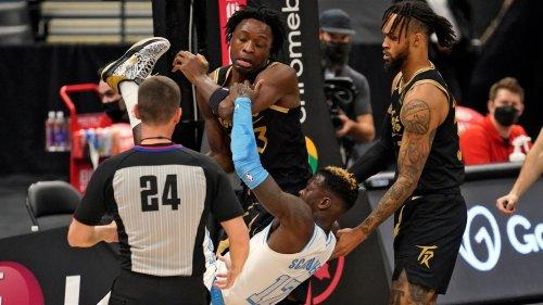 Basketball, NBA: Dennis Schröder im Streit, Sieg für Los Angeles Lakers