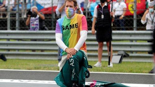 Vettel bekommt Verwarnung für Regenbogen-T-Shirt bei Hymne