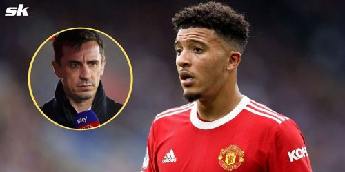 """""""Jadon Sancho is a victim""""- Gary Neville defends Manchester United star, says he shouldn't be 'focus point' of criticism"""
