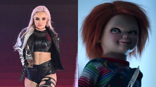 Watch: Liv Morgan cosplays as Chucky the doll