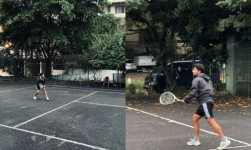 """Picking up some good habits"" - Kuldeep Yadav spotted playing tennis"