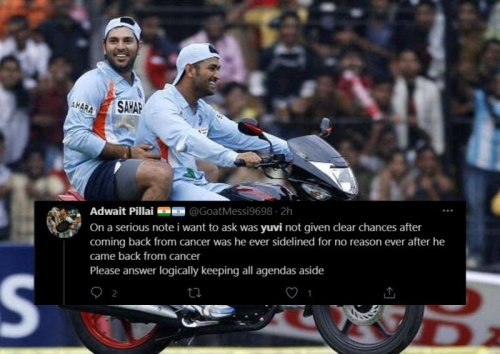 """""""Below the belt level stuff from Yuvi"""" - Twitterati slams Yuvraj Singh after he crops MS Dhoni from 2011 WC winning picture in his video compilation on Friendship day"""