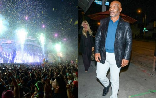 Watch: Mike Tyson attends EDC music festival in Las Vegas with Insomniac CEO Pasquale Rotella