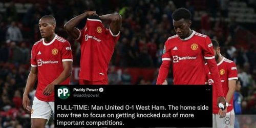 Twitter explodes as Manchester United crash out of EFL Cup at Old Trafford