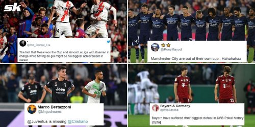 Twitter explodes as Barcelona, Manchester City, Juventus and Bayern Munich suffer shock defeats