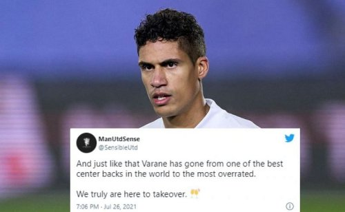 Twitter explodes as Manchester United reportedly agree deal for Raphael Varane