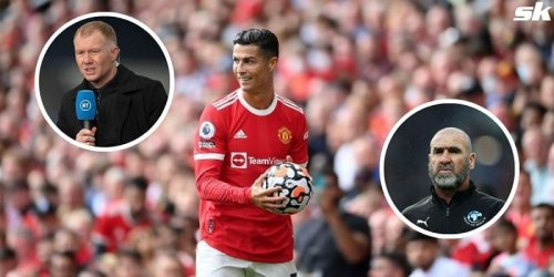 """""""On another level"""" - Scholes explains why Cristiano Ronaldo is better than Eric Cantona"""