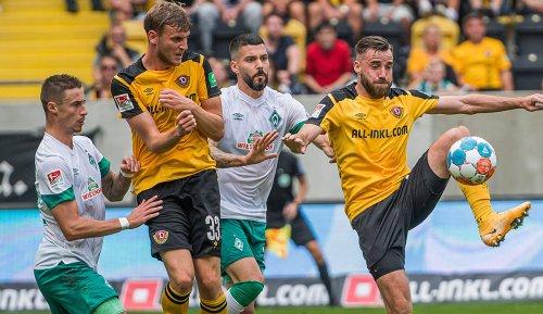 2. Liga: Werder Bremen geht bei Dynamo Dresden unter - HSV rettet einen Punkt