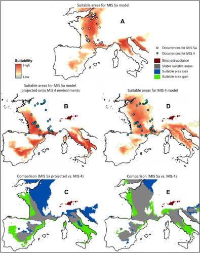 An ecological niche shift for Neanderthal populations in Western Europe 70,000 years ago