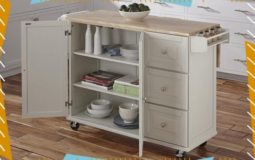 Lacking Counter Space & Kitchen Storage? Behold: The Kitchen Cart