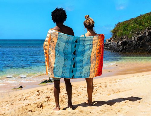 Top Up Your Tan from the Comfort of an Oversized Beach Towel