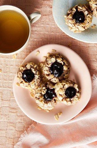 Blueberry Pecan Oat Thumbprint Cookies — Sohla El-Waylly