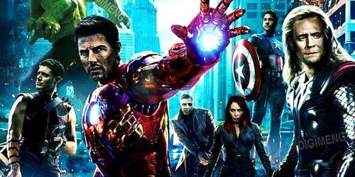Avengers Poster Imagines Tom Hiddleston as Thor & Tom Cruise as Iron Man