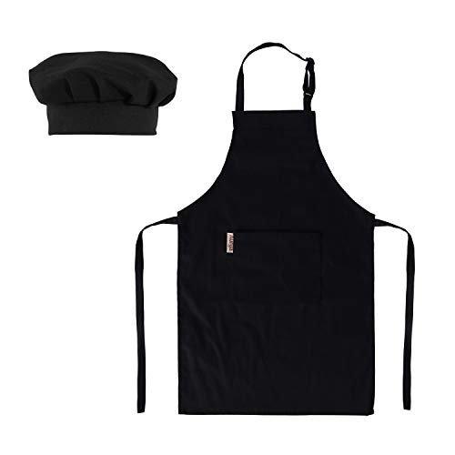 Adjustable Kids Apron and Chef Hat Set