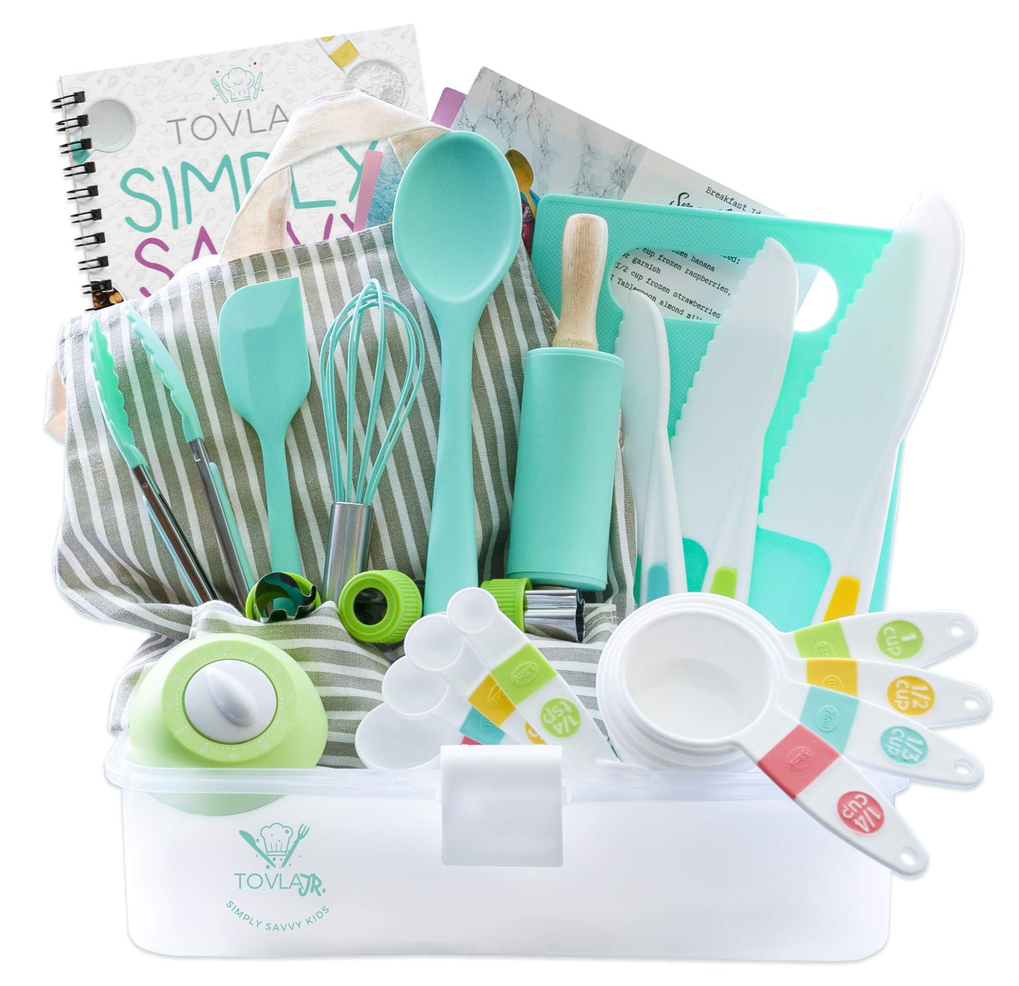 Tovla Jr. Kids Cooking and Baking Set with Storage Case
