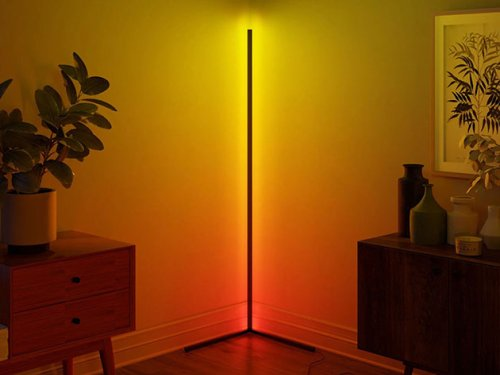 With Over 16 Million Colors & 300 Effects, This Corner Lamp Lets You Enjoy Beautiful Customized Illuminations Right At Your Home