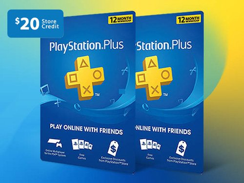 Share with Friends or Combine All 3 Codes & Enjoy 3 Years of Unlimited Access to PlayStation Classics PLUS $20 Credit on Your Next Purchase