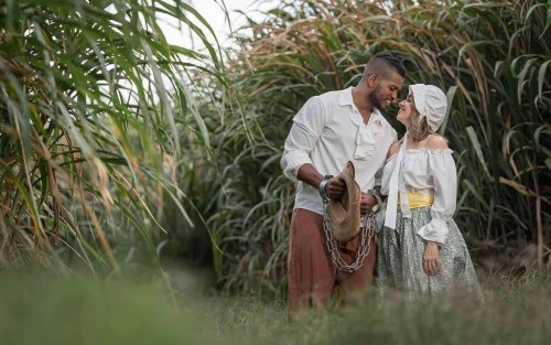 The Internet Goes Off Over Interracial Couple's Slavery Themed Pre-Wedding Photoshoot