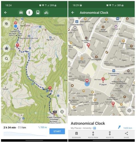 Organic Maps: Ein Fork von Maps.me