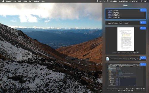 Yippy: Kostenloses Werkzeug für die Zwischenablage von macOS