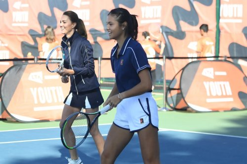 Kate and Emma Raducanu meet up for tennis match