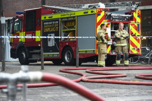 Balcony destroyed after cardboard boxes catch fire spontaneously