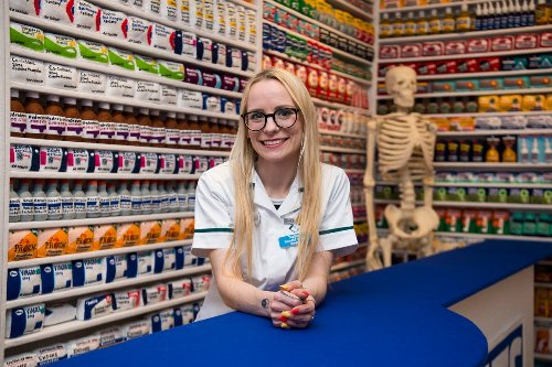 Chemist shop stocked with 15,000 items made entirely from felt