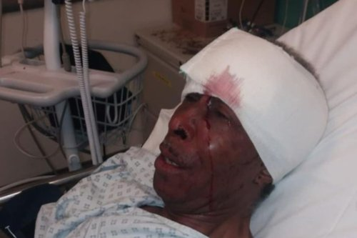 Officer accused of punching pensioner, 70, during arrest over broken taillight