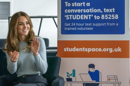 Kate visits university students ahead of World Mental Health Day