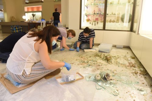 British Museum experts to put ancient glass artifacts smashed in Beirut port explosion back together