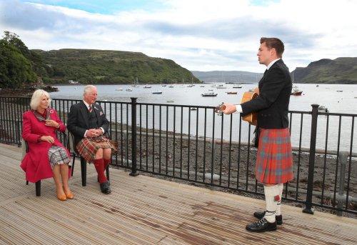 Gaelic serenade for Charles and Camilla on Scottish island visit
