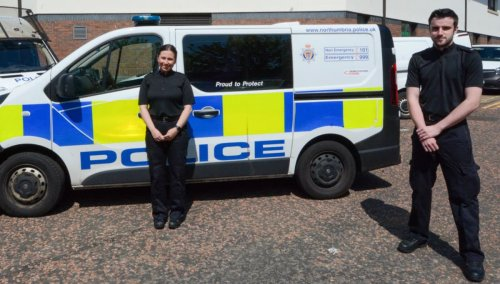 Student police officers recognised for bravery after saving woman from North Sea