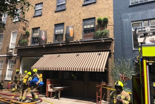Over 70 firefighters take on blaze at Guy Ritchie's Fitzrovia pub