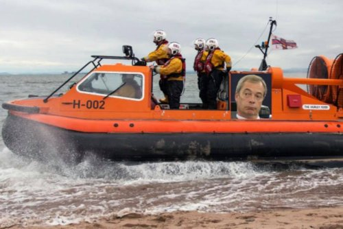 Flying Farage: Fundraiser suggests RNLI name vessel after GB News host
