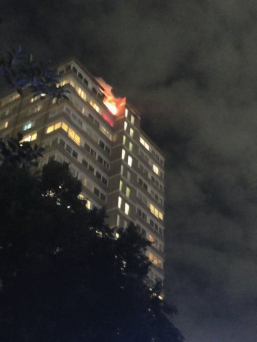 Fire breaks out at London tower block