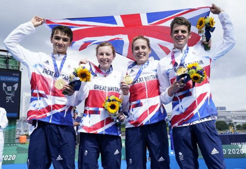 Joy at last for Jonny Brownlee as Great Britain bags mixed triathlon relay gold
