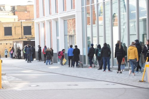 Huge queues for surge testing in south London after SA variant found