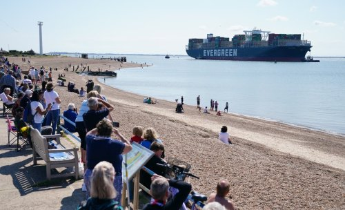 Ever Given docks in Felixstowe after blocking Suez Canal
