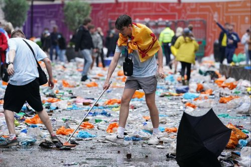 Huge clean-up operation after Scotland fans party into the night